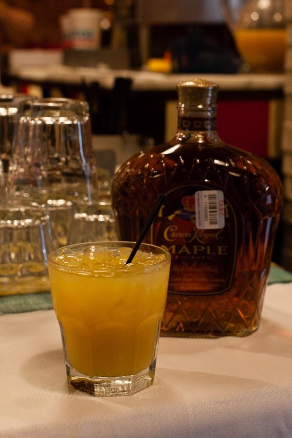 Crown Royal Maple and Orange Juice