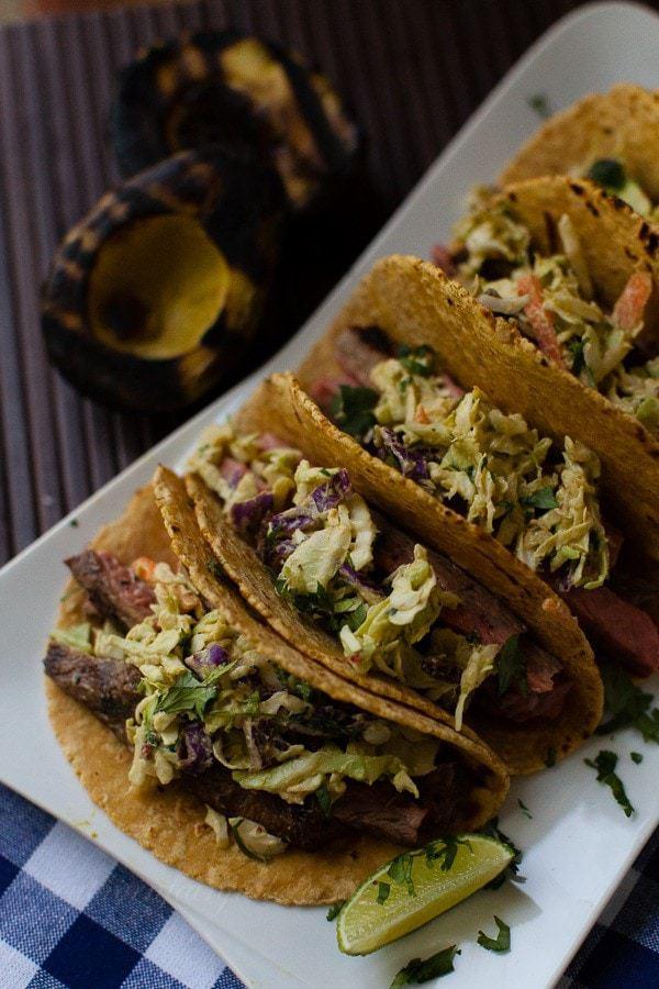 Shiner Bock Marinated Street Tacos