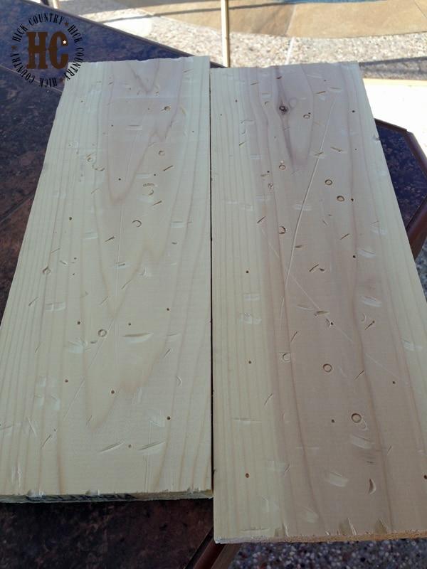 planks of wood distressed