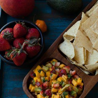 Mango, Avocado, Strawberry, Habanero Salsa