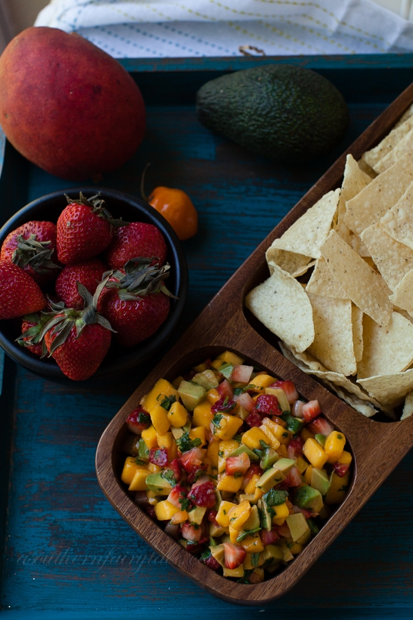 Mango, Strawberry, Avocado, Habanero Salsa | A Southern Fairytale