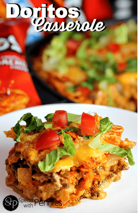Layered Doritos Casserole by Spend With Pennies
