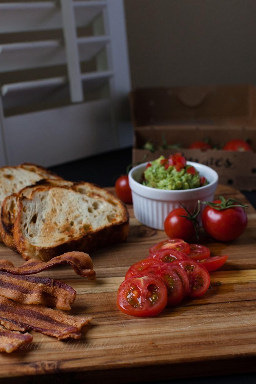 del campo t'mates with bacon and guacamole