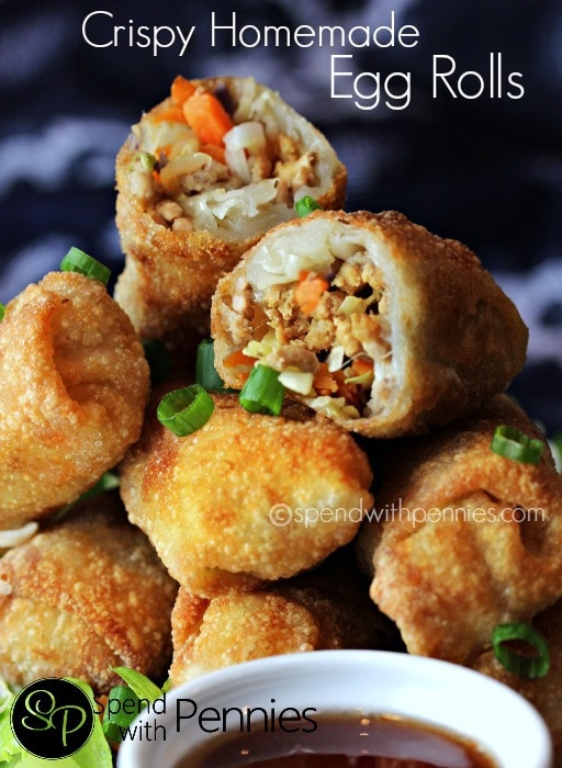 Crispy Homemade Eggrolls by Spend with Pennies