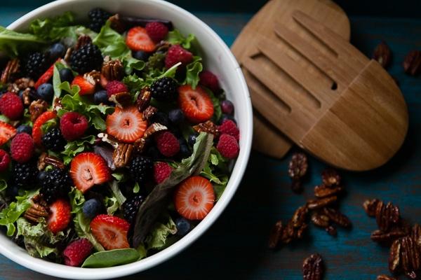 honey glazed pecan fruit salad