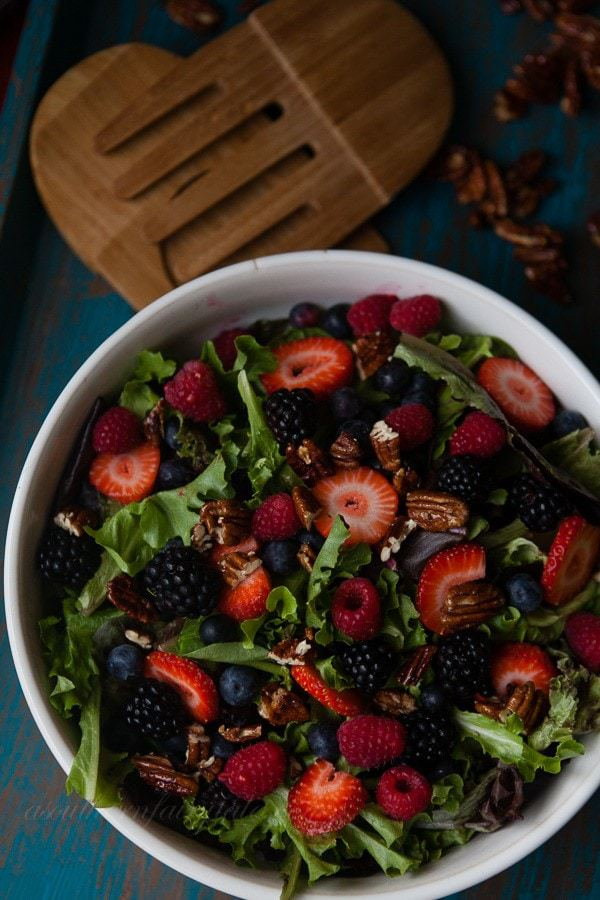 Honey Glazed Pecans for Berrylicious Summer Salad
