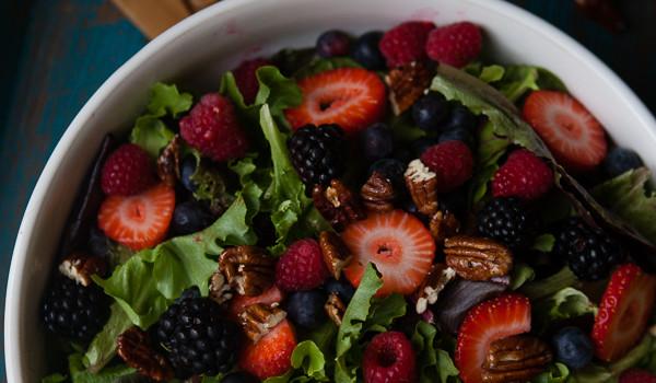Berrylicious Summer Salad with Honey Glazed Pecans