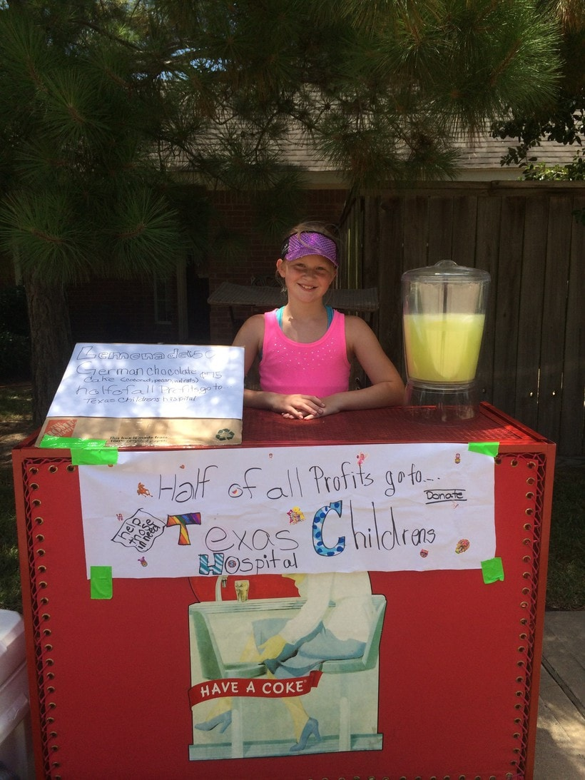 princess' lemonade stand