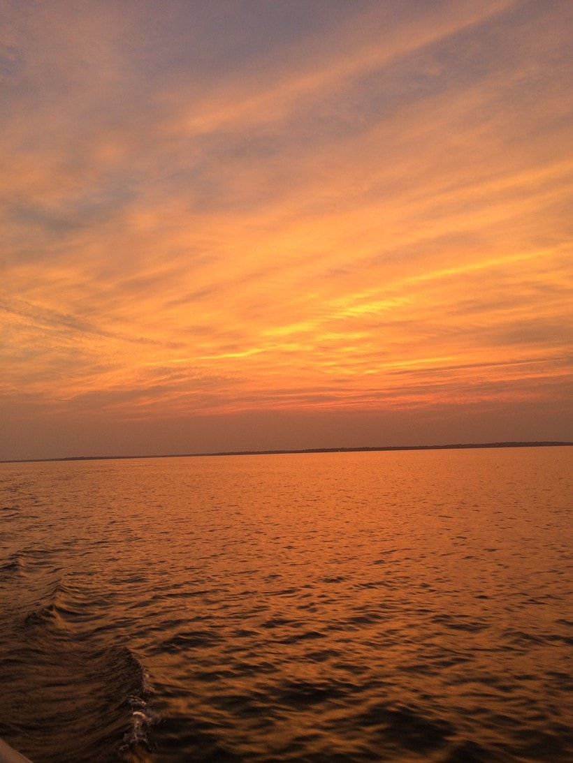 lake somerville texas sunset