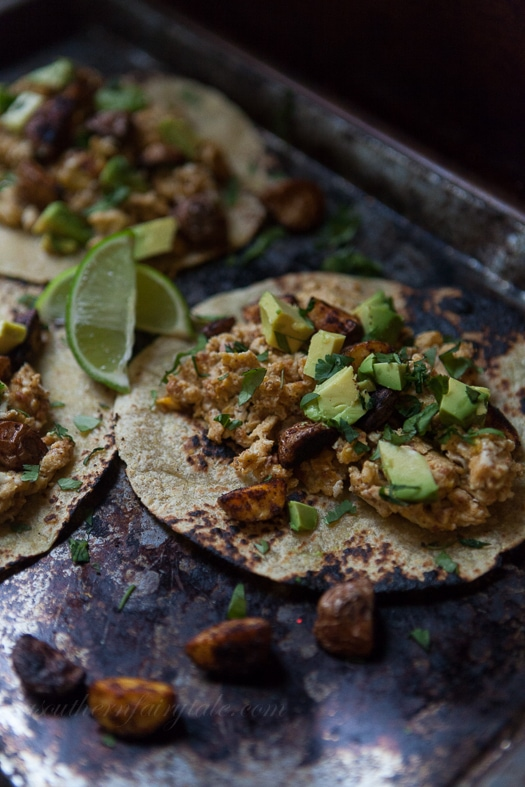 Chorizo and Egg Breakfast Tacos with Avocados and Oven Roasted ...