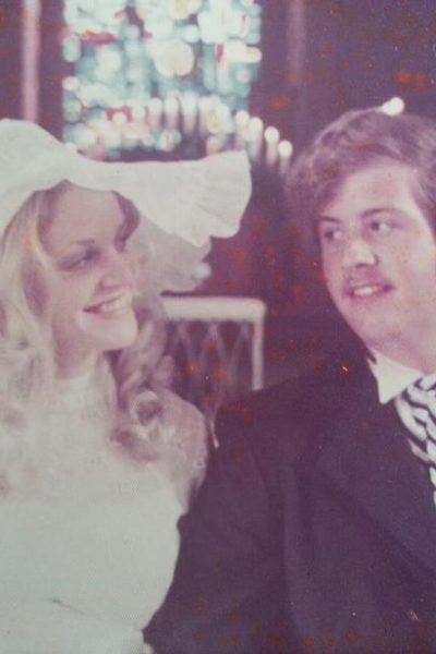 mom and dad's wedding picture