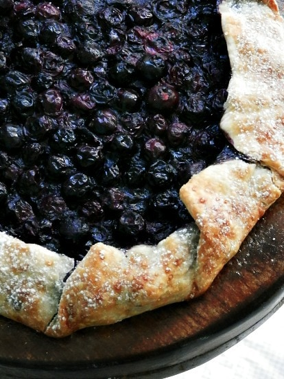 Rustic Blueberry Galette | A Hungry Pilgrim