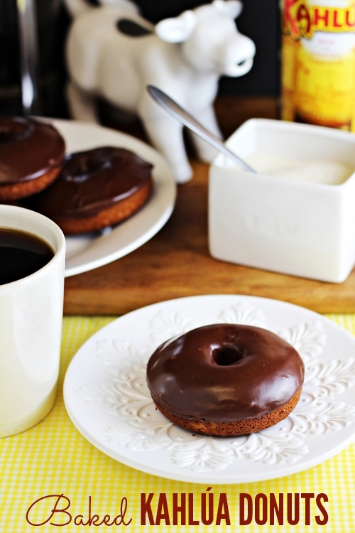 Baked Kahlua Glazed Donuts from Home Cooking Memories