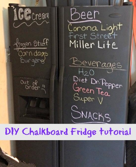 easy chalkboard fridge tutorial