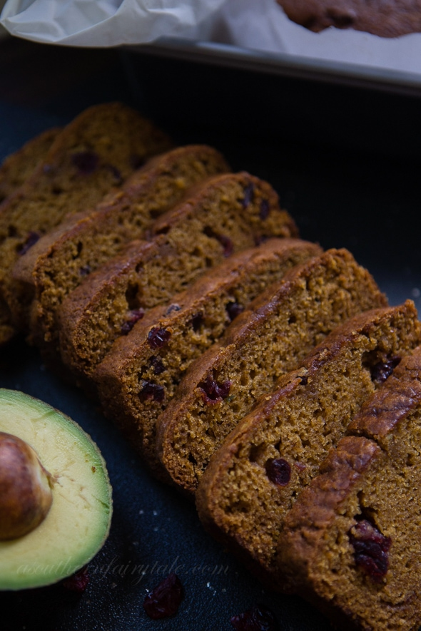 Cranberry Pumpkin Avocado Bread Slices | A Southern Fairytale