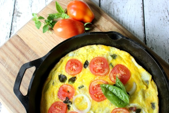 Paleo Tomato, Bacon, Herb Frittata from Confessions of an Overworked Mom