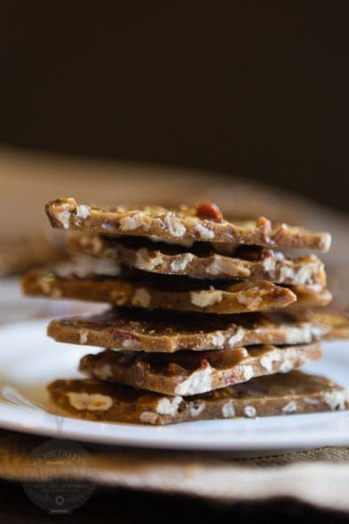 salty sweet bacon pecan brittle
