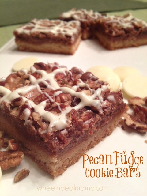 Pecan Fudge Cookie Bars from Wheel n Deal Mama