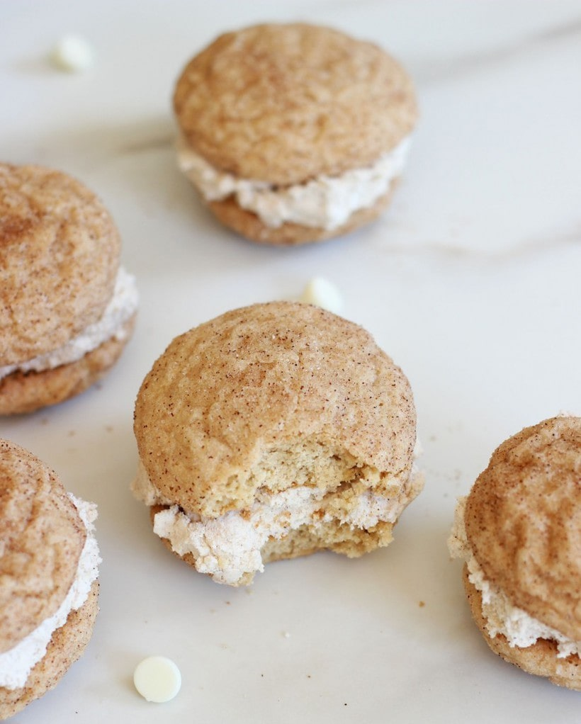 Chewy Snickerdoodle Whoopie Pies from Gold Lining Girl