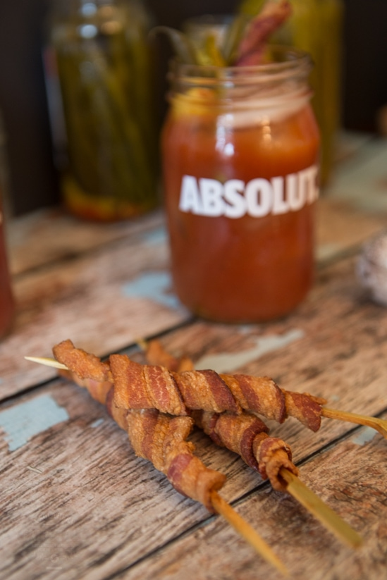 bacon skewers for bloody mary