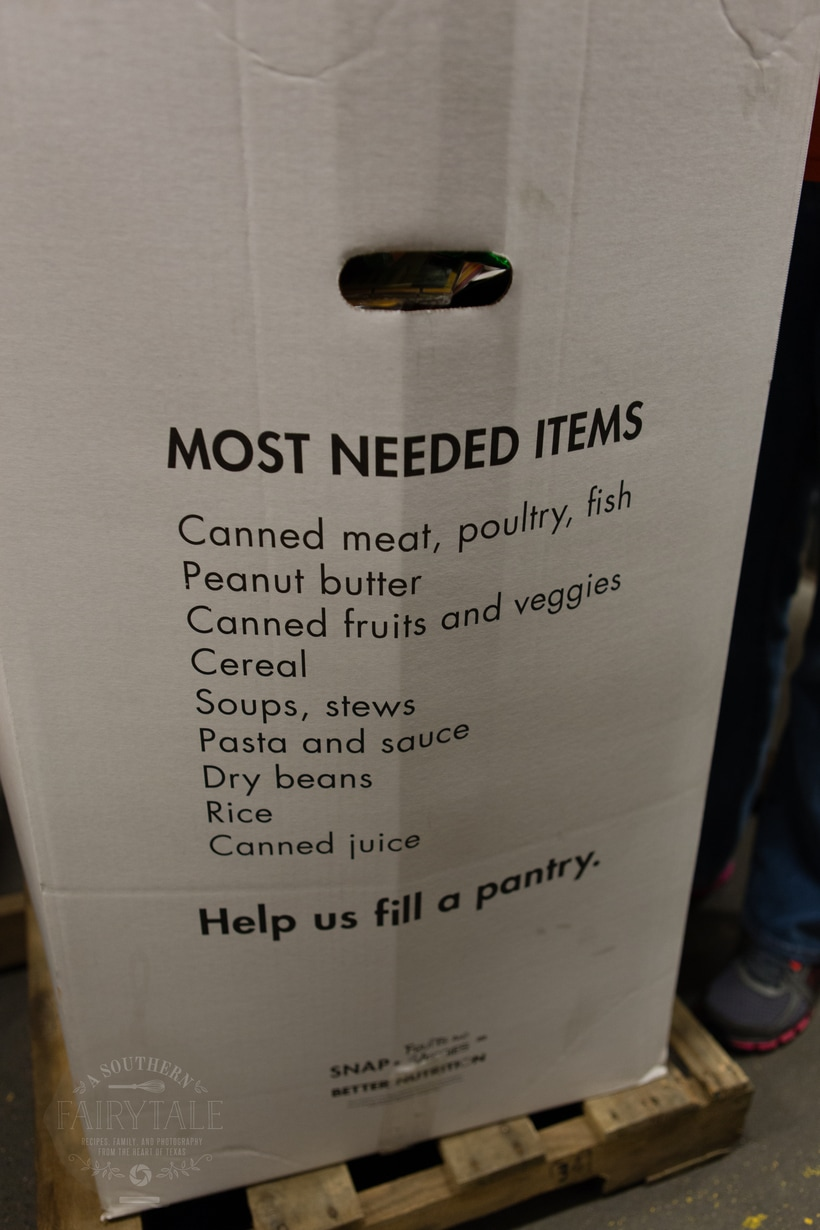 a list of the food bank's most needed and wanted items