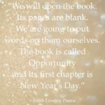 New Year's 2015 Blank Pages quote