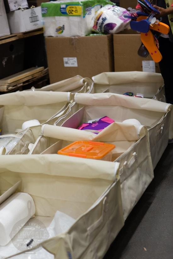 holiday necessity packs at the houston food bank