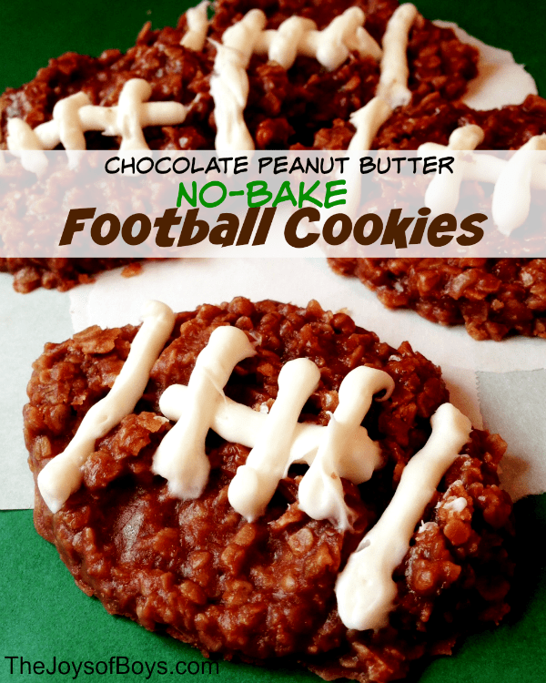 no bake chocolate peanut butter cookies from The Joys of Boys