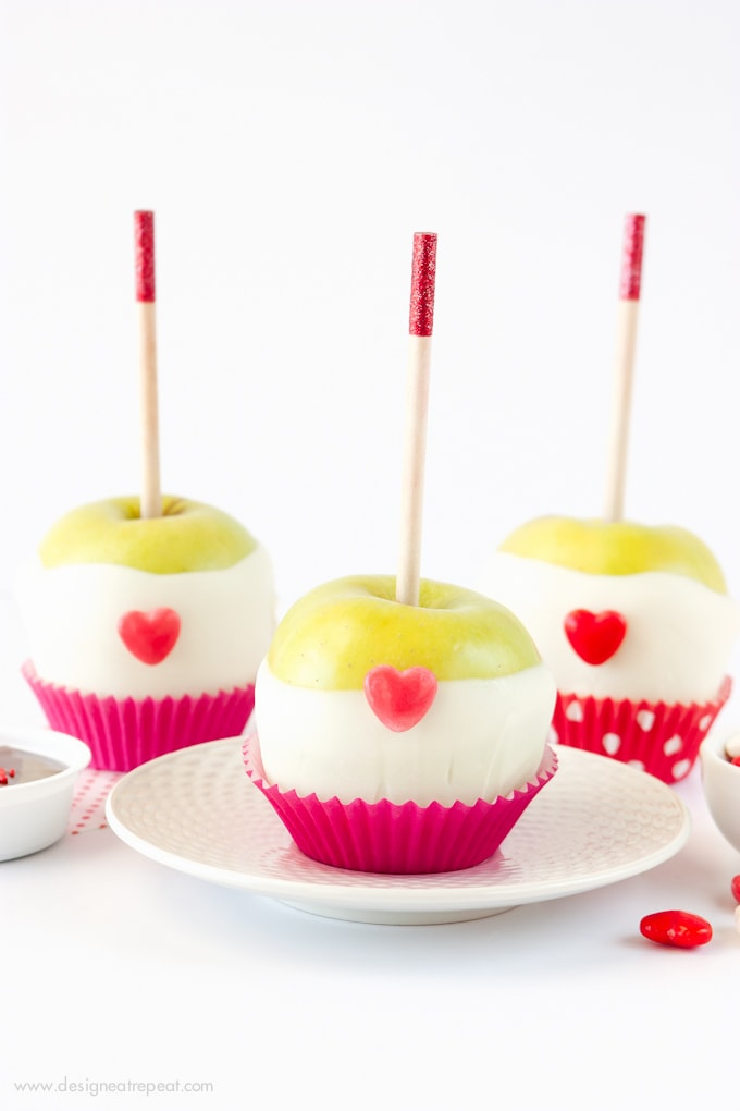 Valentine's Day Caramel Apple Kit from Design Eat Repeat