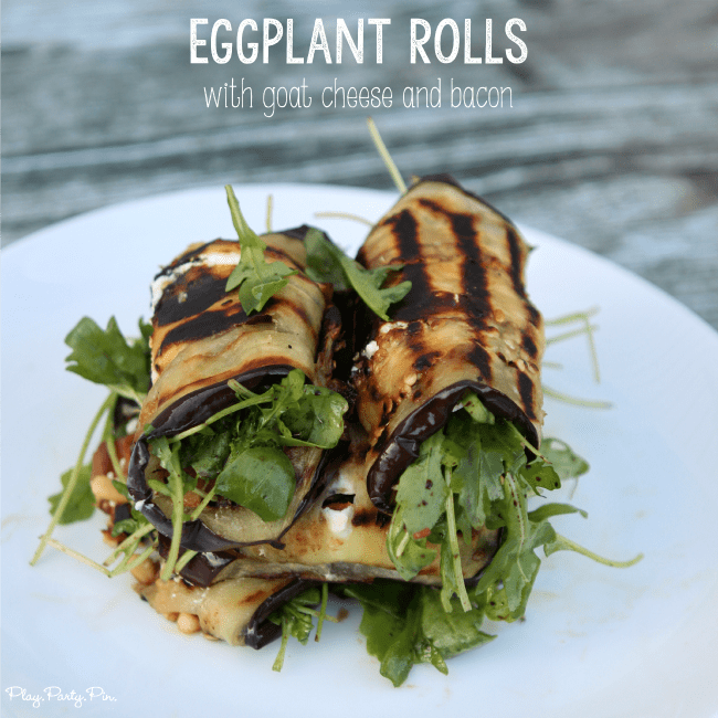 Grilled Eggplant Rolls from Play. Party. Pin