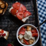 Grilled Strawberry shortcakes with amaretto whipped cream