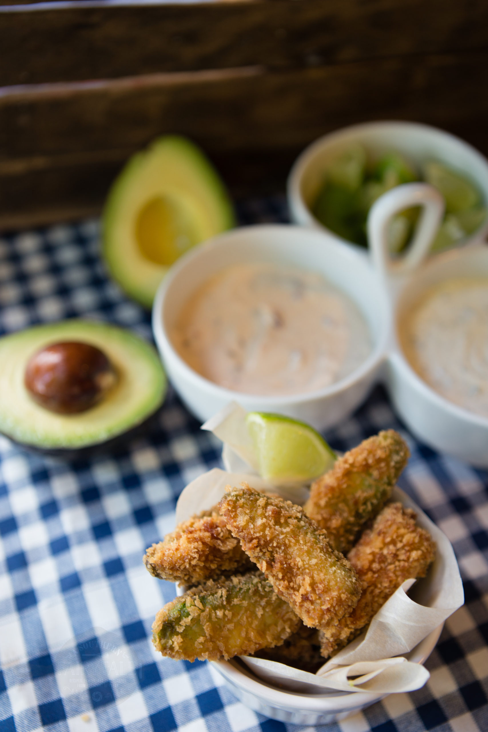 easy and delicious homemade crispy fried avocado fries| asouthernfairytale.com
