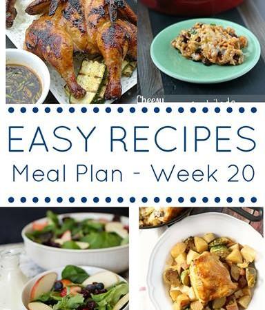 week 20 weekly meal planning