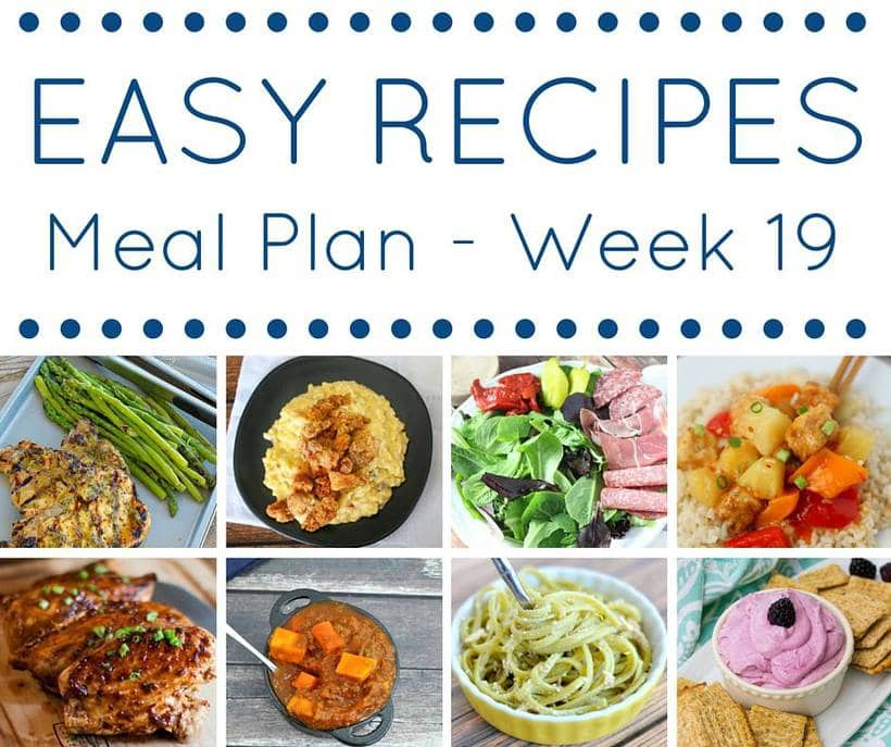 Easy Dinner Recipes Weekly Meal Plan