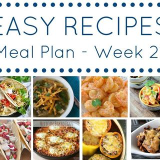 Weekly Meal Planning Week 21