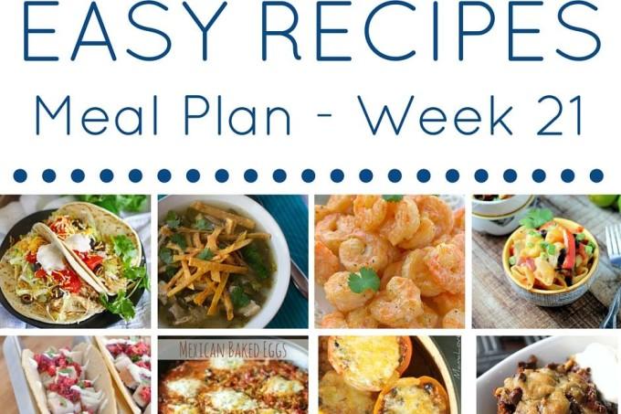 Weekly Meal Planning Week 21