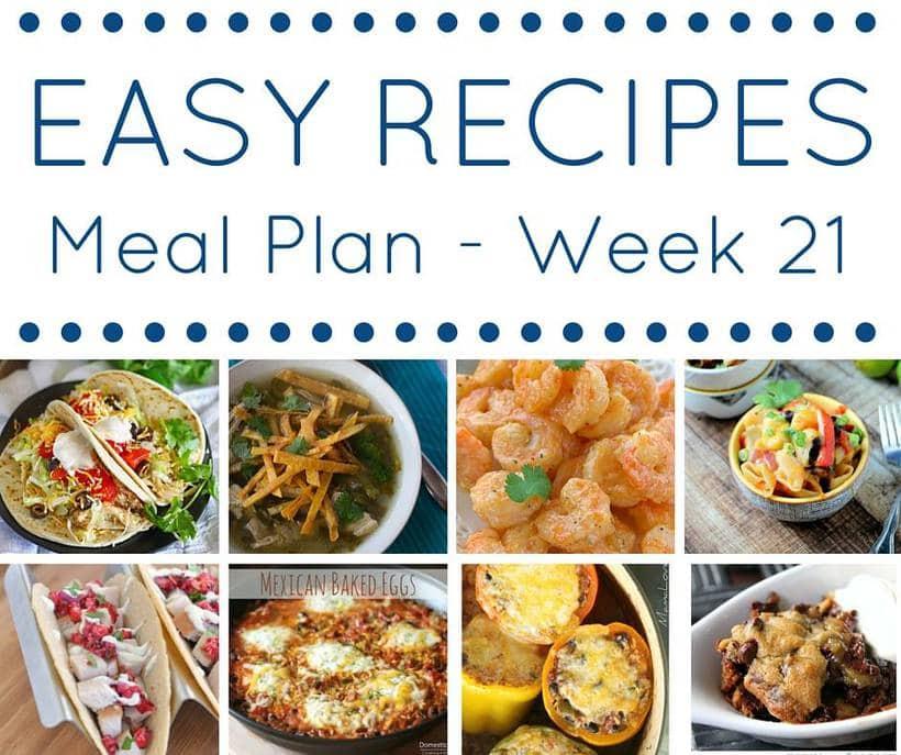 Weekly Meal Plan {Week 21}