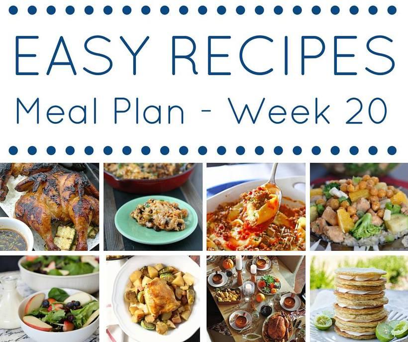 weekly meal planning week 20