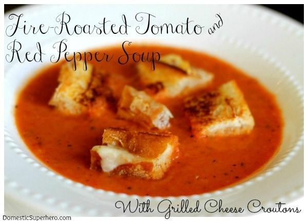 Roasted-Tomato-and-Red-Pepper-Soup-with-Grilled-Cheese-Croutons