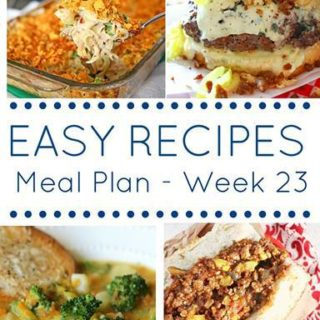 easy weekly meal plan week 23