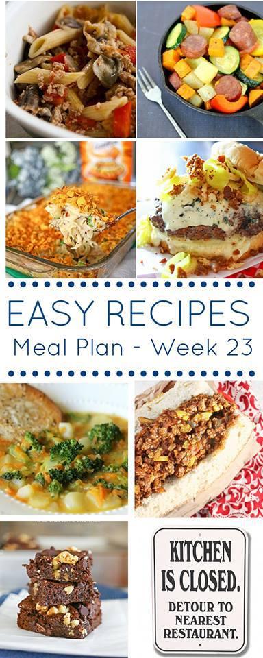 Weekly Meal Plan {Week 23}