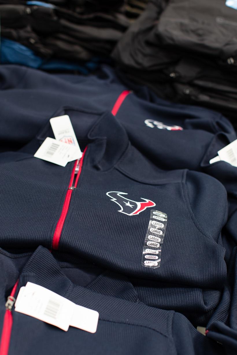 Texans zip up jersey at Sam's Club