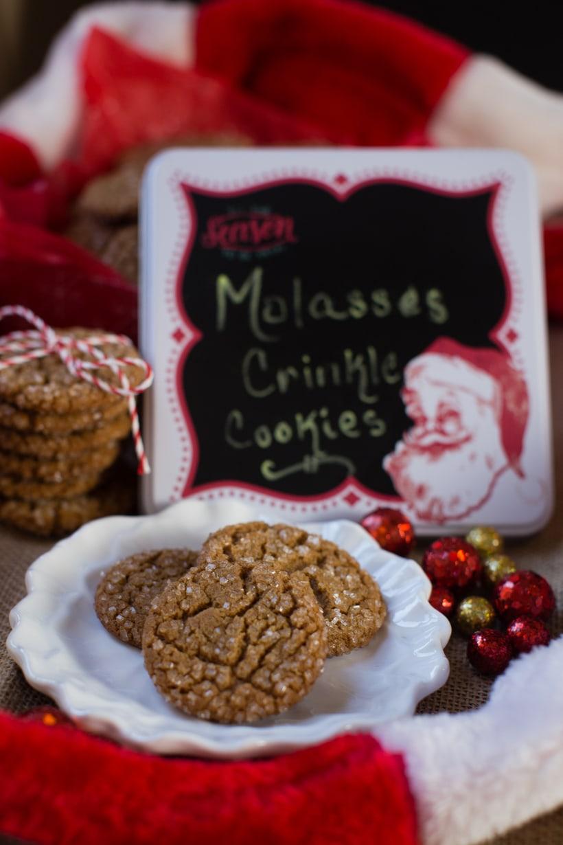 molasses crinkle cookies for fbcookie swap