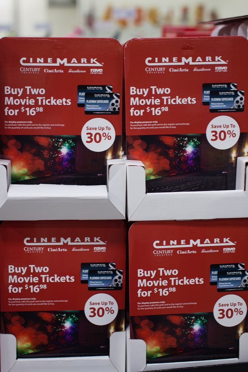 movie tickets at Sams club