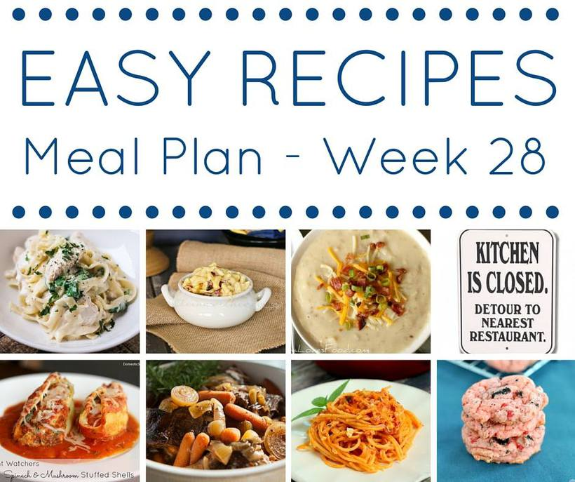 Weekly Meal Plan {Week 28}