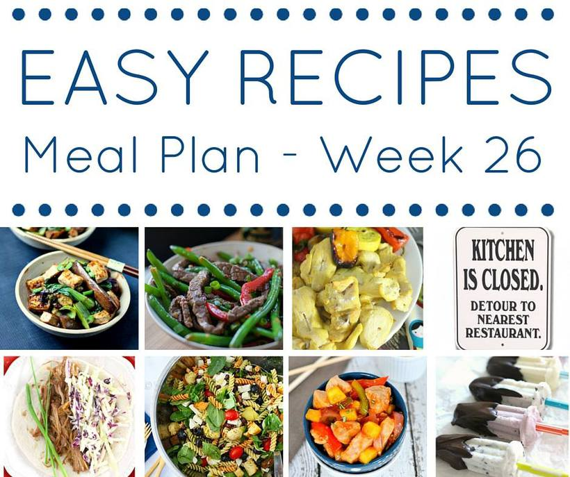 Weekly Meal Plan {Week 26}