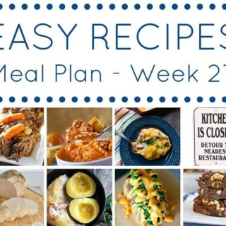 easy recipes weekly meal plan