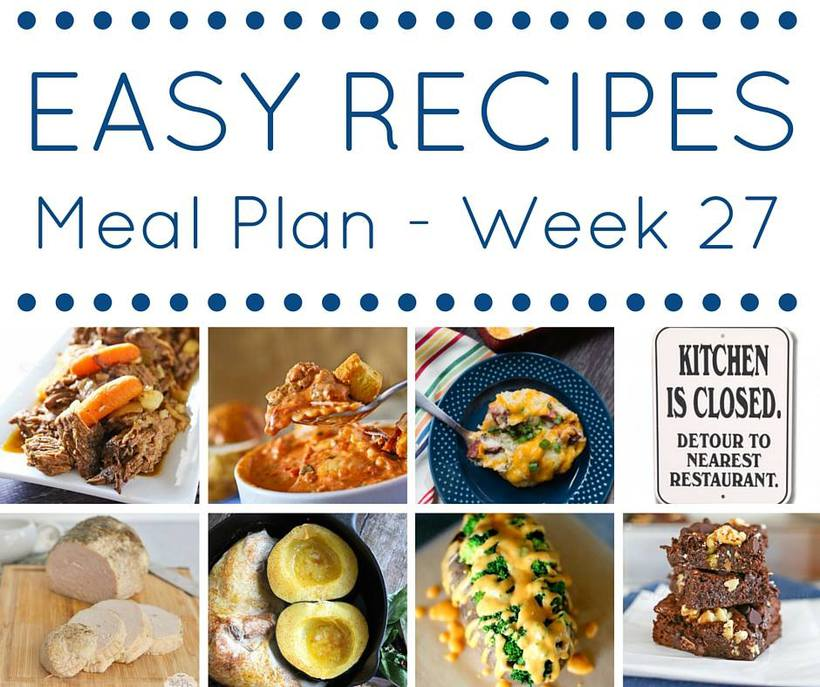 Weekly Meal Plan {Week 27}