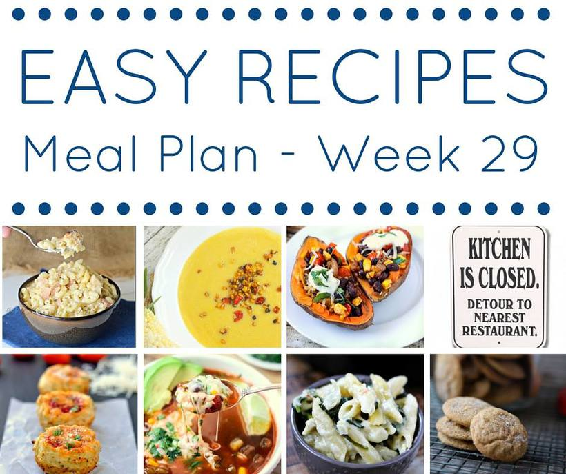 Weekly Meal Plan {Week 29}