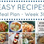 easy meal plan week 30